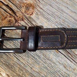 Men's Columbia Leather Belt